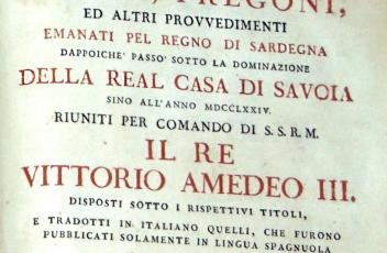 Editti, pregoni, ed altri provvedimenti emanati pel Regno di Sardegna dappoichè passò sotto la dominazione della Real Casa di Savoia