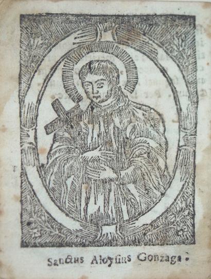 Compañia de Jesús, Novenario del glorioso San Luis Gonzaga, Sassari (1740)